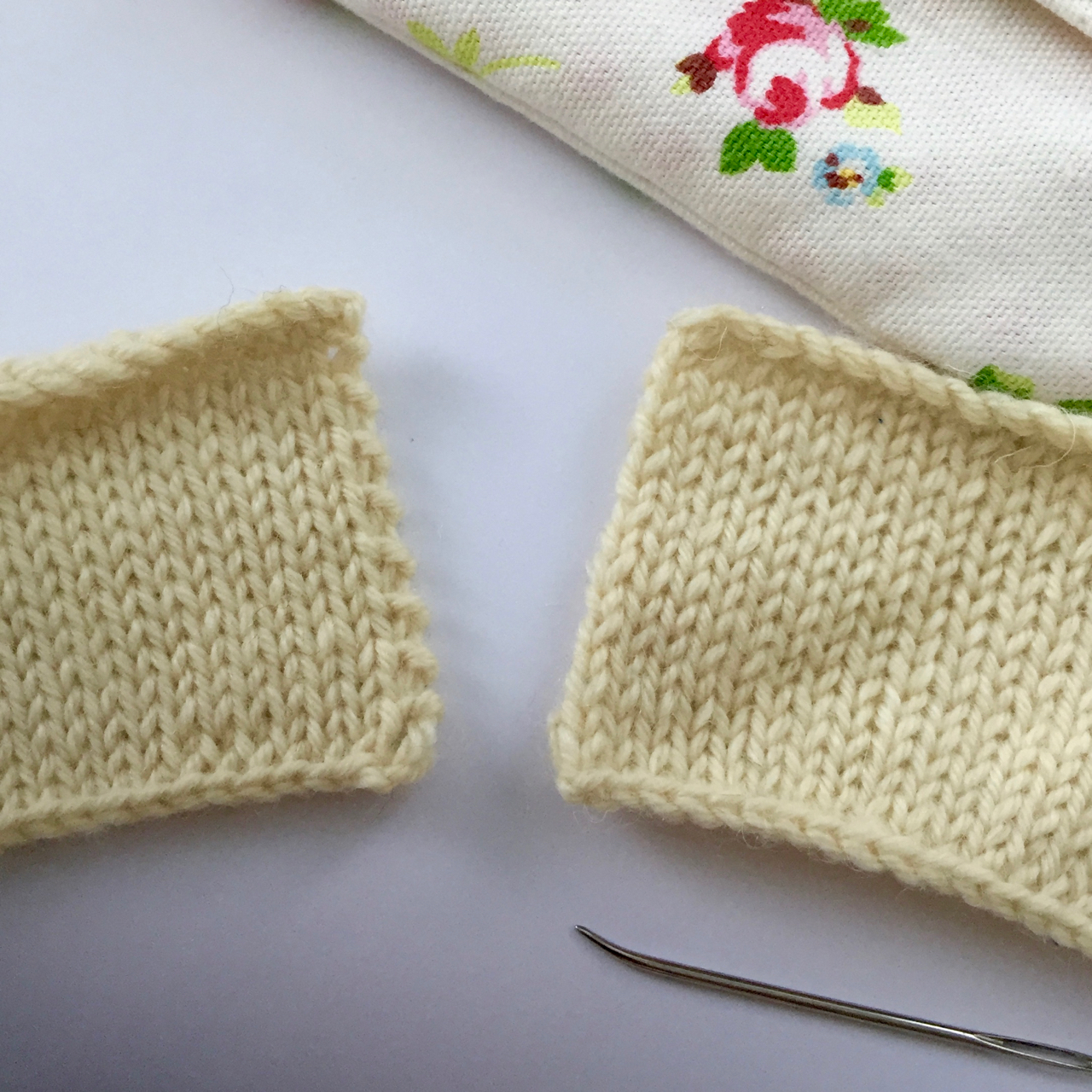 Knit V. Stocking Stitch Edge