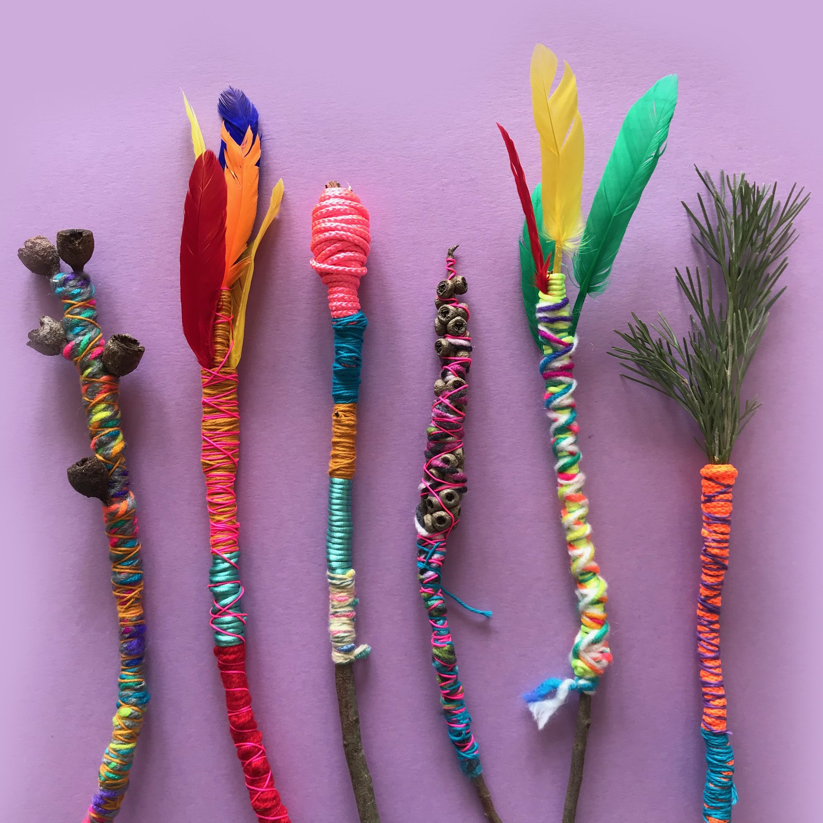 Yarn Wands from Mini Mad Things